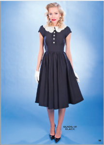 c1785bee34bf Stop Staring, GLADIL LITTLE BLACK SWING DRESS, IVORY COLLAR, GLADIL ...