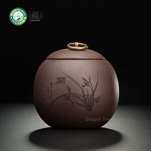 The-brun-Main-Yixing-Yixing-argile-Orchid-Caddy-Cafe-Traineau-500ml-16-9-oz