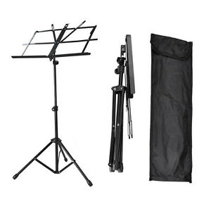 Adjustable-Folding-Sheet-Music-Stand-Score-Holder-Mount-Tripod-Carrying-Bag