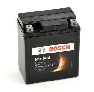 Bosch M6006 Batterie moto YTX7L-BS - 12V AGM 6A/h-100A