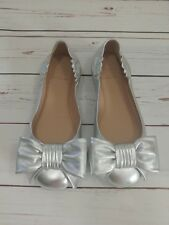 ec5233f01679 item 6 New Tory Burch Divine Bow Driver Leather Ballet Flats Silver Size 5   250 MSRP -New Tory Burch Divine Bow Driver Leather Ballet Flats Silver  Size 5 ...