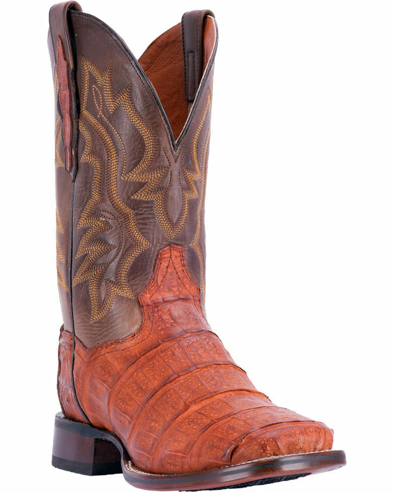 Dan Post Men's Bishop Caiman Tail  Boots - Square Toe DP4536
