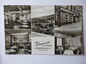 Ansichtskarte Altena Sauerland Hotel Würschmidt am Markt 1963 auch innen