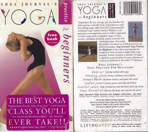 vhs yoga journal's yoga for beginners with free book