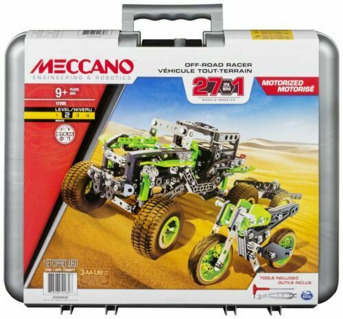 Meccano 27-in-1 Off Road Racers Construction Set.Brand New /& Boxed