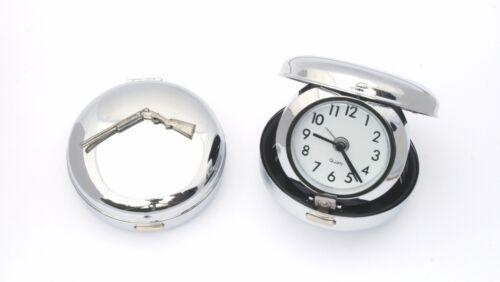 Open Shotgun Style Flip Up Travel Alarm Clock Shooting GIft