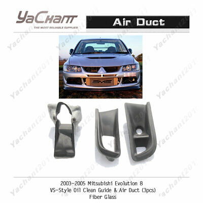 Carbon Kit Fit For Mitsubishi Evolution Evo 8 2003-05 Front Bumper Air Ducts