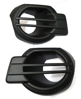 MATT BLACK COVER FOG SPOTLIGHT LAMP LH+RH FOR FORD RANGER 2012-2014 13 T6 XLT PX
