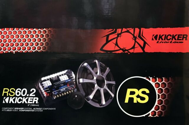 """NEW KICKER RS60.2 6"""" 2-Way RS Series Convertible Component/Coaxial Speakers 2009"""