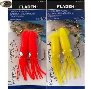 # 4//0 bis 8//0 FLADEN Hochsee Octopus Rig Vorfach Norwegen System Dorsch Köhler