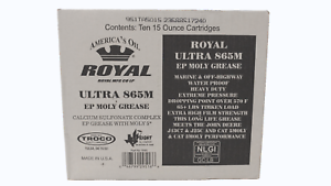 Details about 10 Pk Royal Ultra 865M NLGI #2 Calcium Sulfonate Grease 15Oz  5% Moly Tubes