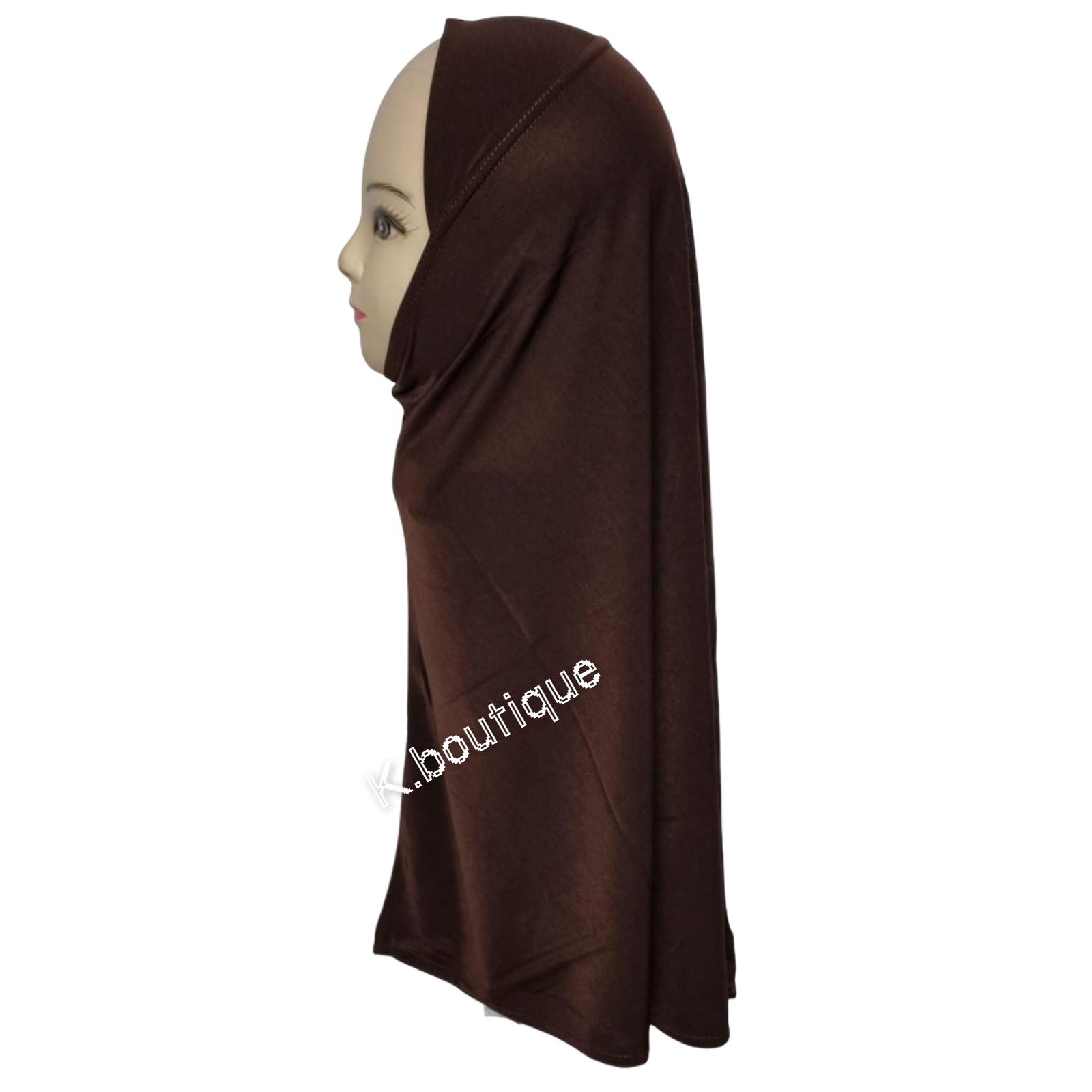 Plain One Piece Hijab Fits Girls Teenagers Adult Stretchy lycra School Hijab Uk