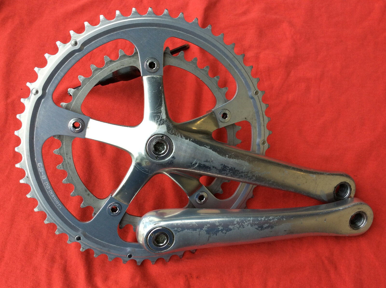 Shimano Dura Ace 7700 9Sp 175mm Octalink Crankset  GOOD condition  credit guarantee