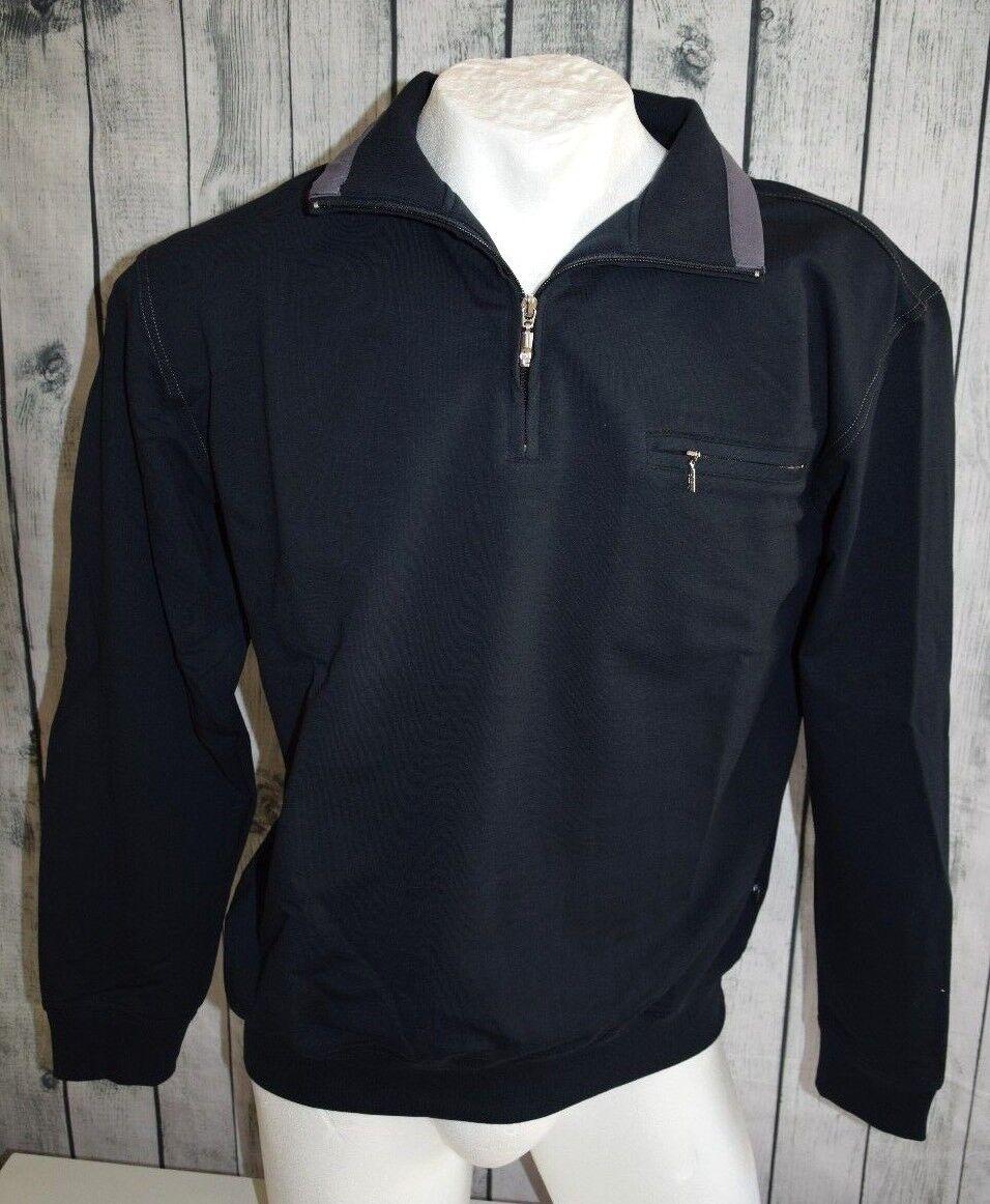 Hajo, Pullover Pulli Sweatshirt Sweater, STAY FRESH, Gr. S/48, nachtblau 609