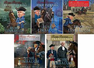NEW Rush Revere Set of 5 CD Audio Book Limbaugh Kid History Presidency Pilgrims
