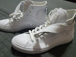 Star Sneakers Mono Chrome Leather White