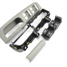 Fits Jetta Mk4 4Door Master Window Switch Panel Bezel Pull Trim Bracket Set Gray