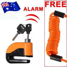 AU Alarm Disc Security Lock + Remind Cable Motorcycle Dirt Road Bike Brake Rotor