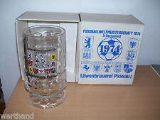 Bierkrug Fußballweltmeisterschaft 1974 Krug WM 74 Löwenbrauerei Passau 0,4l OVP
