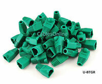 Rj45 Cat5e/ Cat6 Ethernet Cable Plug Strain Relief Boots 50-pack, Green