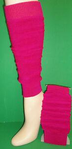 KWEKOO-PLAIN-COLORFUL-TERRY-WOMENS-GIRLS-ACRYLIC-17-5-034-44CM-LEG-WARMERS-W419