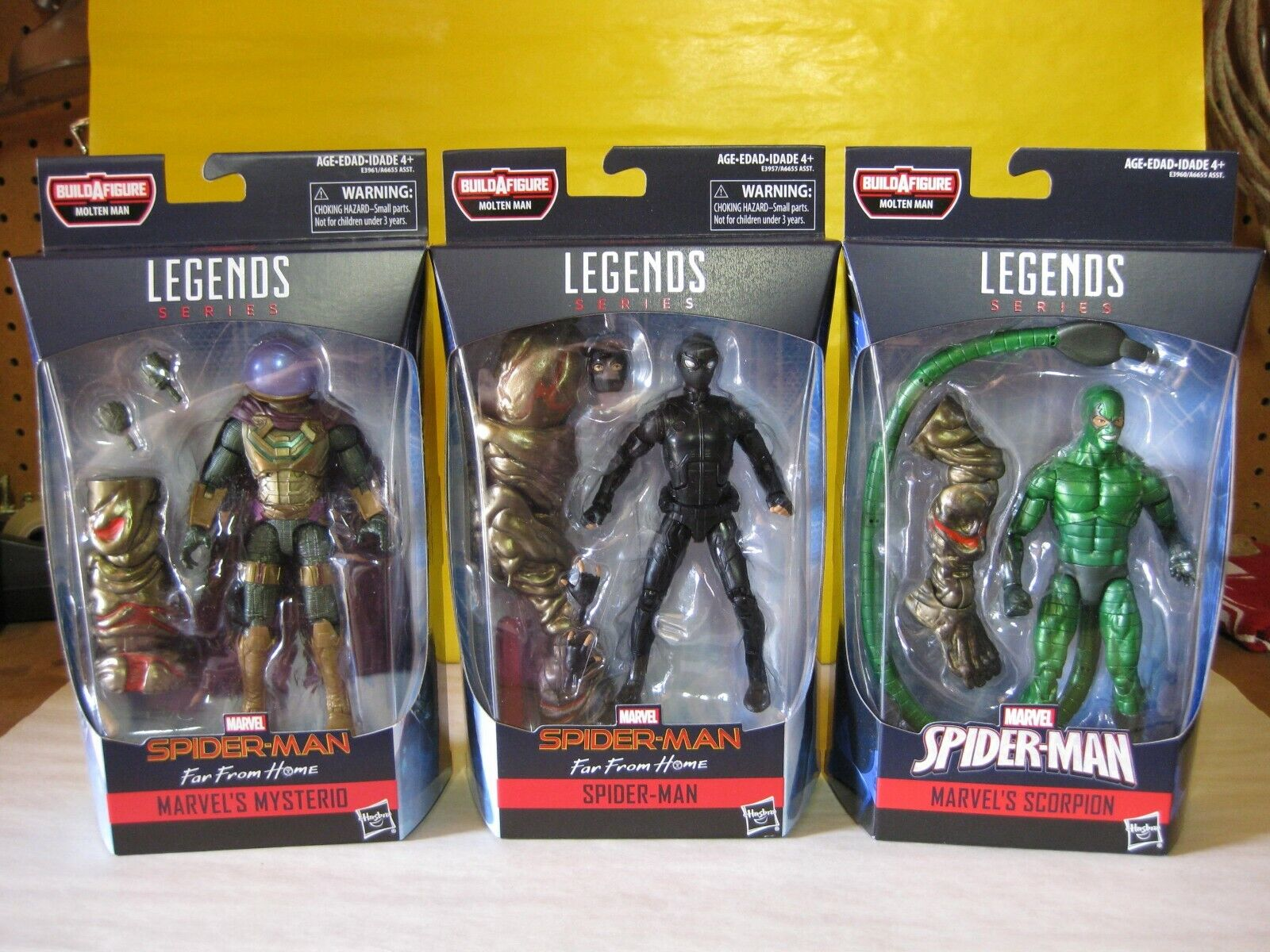 2018 Marvel Legends 6   Spider uomo Far From Home Molten uomo BAF Set nuovo MIP  shopping online di moda