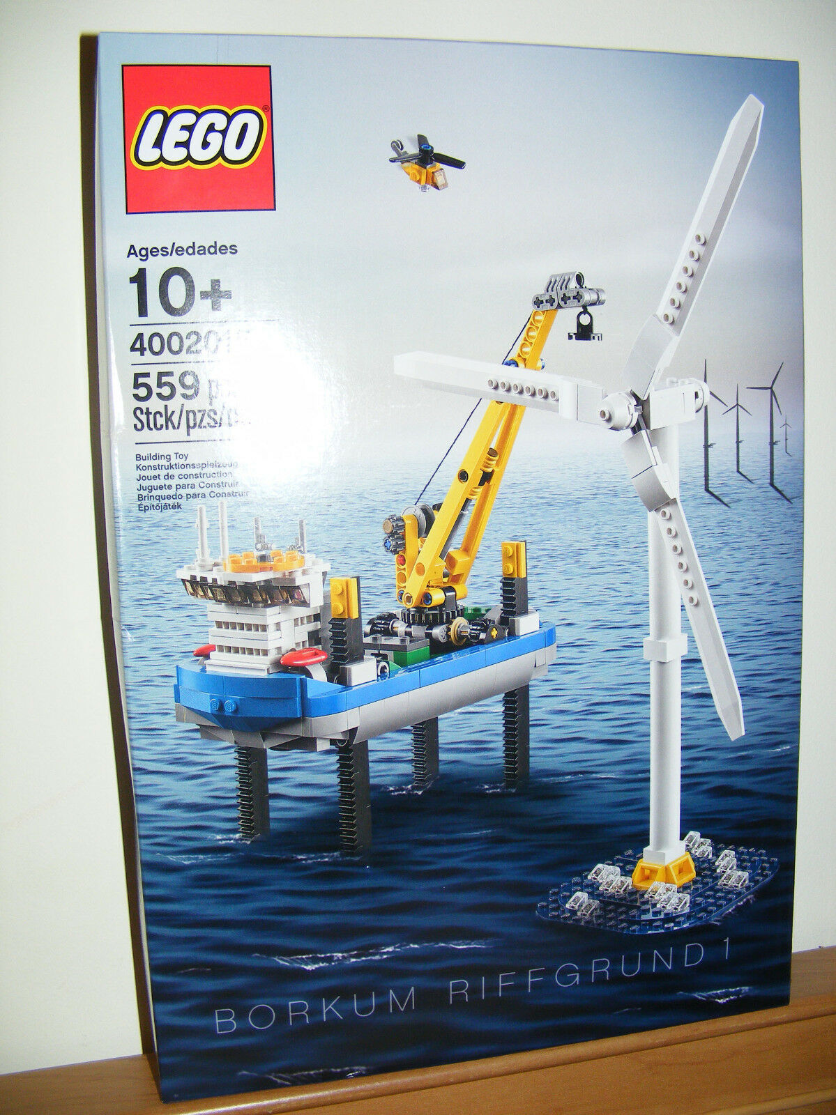 LEGO 4002015 Borkum Riffgcorrered Wind Turbine nuovo  Factory Sealed 2015 but NISB 02  molte sorprese