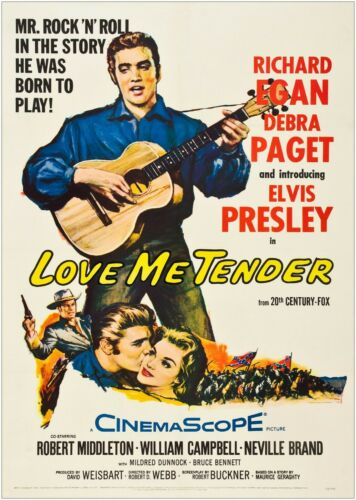 Elvis Love Me Tender Movie Large Poster or Canvas Art Print Maxi A1 A2 A3 A4