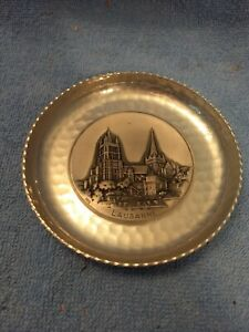 """Lausanne Cathedral Aluminum Coaster? Small Dish 4.5"""""""