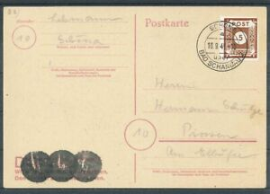 SBZ mi-N. 42h-Pirna timbrato su carta-Gepr. ströh BPP