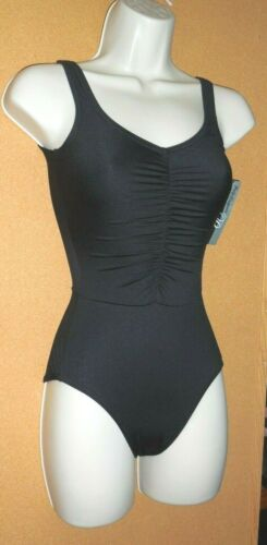 Details about  /Body Wrappers P521  Black Shirred Front Tank Ladies ExtraSmall Seamed waist