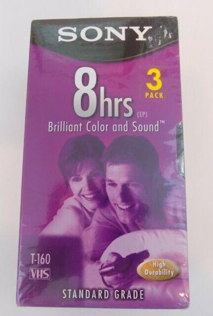 Sony VHS 8hrs Standard Grade T-160 Videocassette 7 Pack