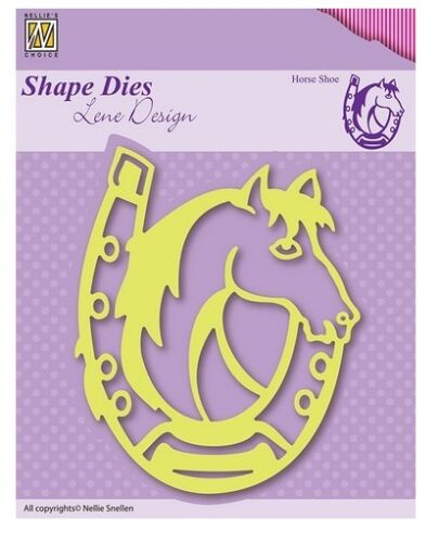 Nellies Choice Shape Stanzschablone Die Lene Design Horse shoe 671655