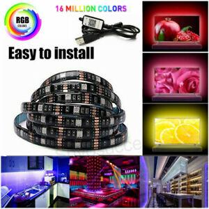 USB Powered RGB LED Streifen Lichterkette Band Drahtlose Bluetooth Steuerung