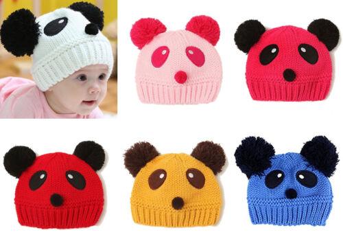 Kids Baby Girl Boy Infant Panda Hat Cap Beanie Hair Accessories Bonnet Headdress