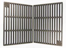 2 x Gusseisen Grillroste 41,5 x 27,5 cm + Griffe nur 12mm Stababstand für Tepro