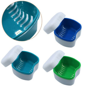 Denture Bath Case Container False Teeth Dental Tooth Storage Box