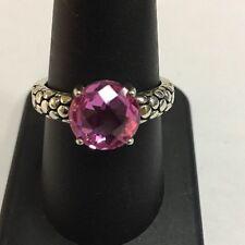Designer Michael Dawkins Sterling Silver 925 Clover Cut Pink Topaz Ring