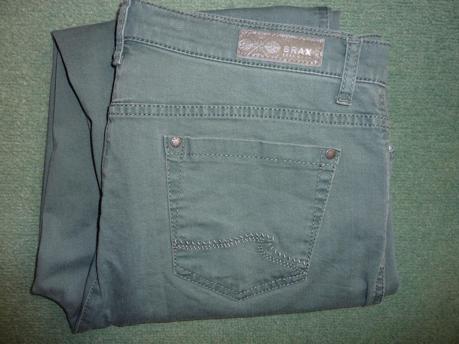 Hight Waist Jeans BRAX Nicola Carola Peter Hahn grün denim Gr. 44 L