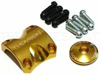 Thomson X4 Dress Kit Stem Face Plate Clamp & Top Cap W Bolts - 1 1/8 Gold