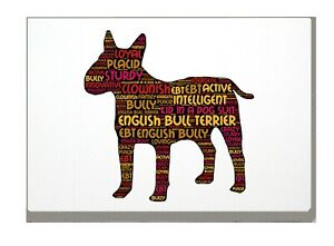 English Bull Terrier Print Word Art A4 A3 Mothers Day Gift Personalised Option