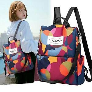 Women-Anti-theft-Travel-Waterproof-Oxford-Cloth-Backpack-Shoulder-Bag-New-UK