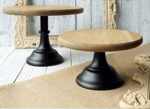 wooden wedding cake stands australia 12 inch 30cm wood with metal base cupcake cake stand 27605