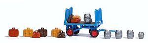 Busch-1624-Ho-Platform-Cart-with-Accessories-New-Original-Packaging