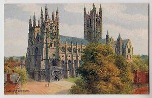 POSTCARD-A-R-Quinton-ARQ-2715-Canterbury-Cathedral-Kent-textured