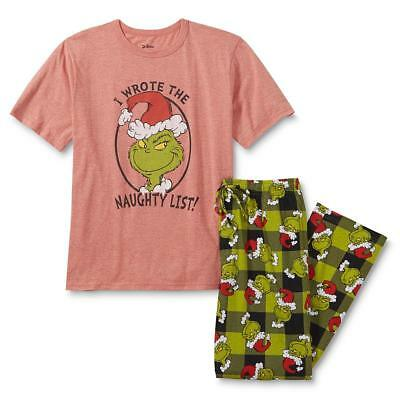 Mens Christmas Pajamas.The Grinch Christmas Pajamas Size Medium Xl Men Shirt Pants Set Dr Seuss New Nwt Ebay