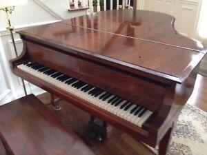 Antique Steinway Baby Grand Piano Model M Mahogany 1914