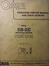 Onan Diesel Djb Djc Electric Generator Repair Service Amp Parts Manual Dj60 Dj120