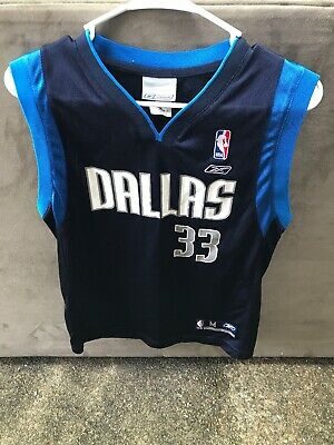 Basketball-nba Sports Mem, Cards & Fan Shop Antwan Jamison Dallas Mavericks Jersey Reebok Kids Youth Large 14-16 Blue Convenience Goods