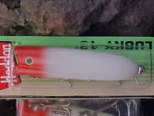 old package heddon topwater bass lure lucky 13 x2500rh red head popper plug